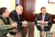 [Moreno] Masso, Ceballos y Franco con el secretario nacional de vivienda