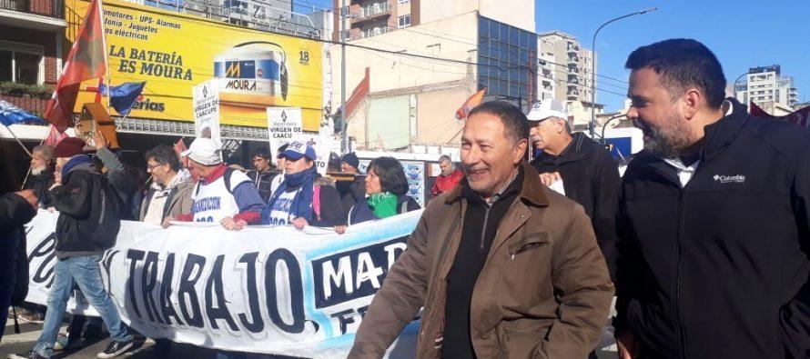 Ceballos marcha desde Liniers junto a las columnas de la Marcha Federal