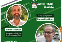 [Chaco] Organizada por el ISEPCI, Chorvat y Martínez charlarán sobre seguridad.