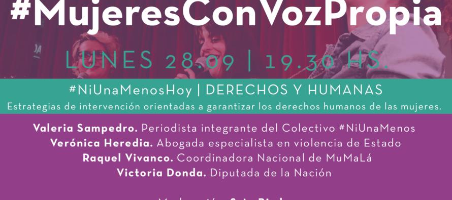 [CABA] 28.9 #MujeresConVozPropia: Sampedro, Heredia, Vicanco y Donda