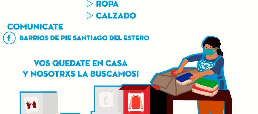 [Santiago del Estero] Barrios de Pie contra el frío: recolecta de ropa, calzados y frazadas.