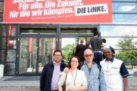 Libres del Sur en el Congreso de DieLinke en Hannover, Alemania