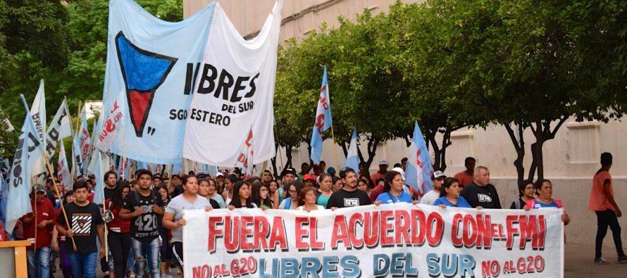 Libres del Sur y Barrios de Pie participaron de Jornada Nacional contra el G20 y el FMI