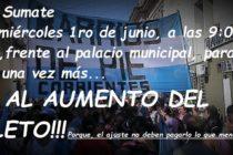 [Corrientes] 1/6 Estudiantes se movilizan al Concejo contra el aumento del boleto