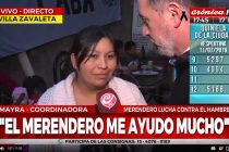 Crónica TV visitó el Merendero Bienestar en Villa Zabaleta. Videos.