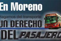 [Moreno] Campaña para que el transporte sea un derecho del pasajero