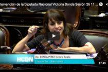 """Victoria Donda: """"Es inaceptable la criminalización de la protesta"""""""