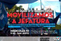 [La Matanza] Nos movilizamos a Jefatura en defensa de la educación pública