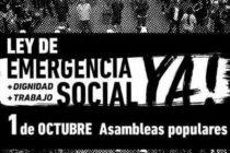 """Lanzan un """"triunvirato piquetero"""" y exigen la ley de emergencia social"""