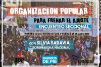 [Mar del Plata] Con la presencia de Silvia Saravia se hará el Encuentro Seccional de Barrios de Pie