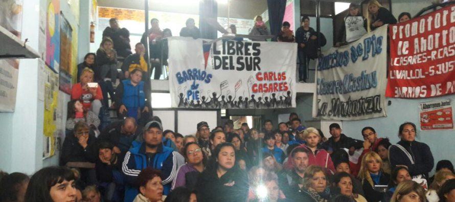 [La Matanza] Primera escuela de formación para referentes de Barrios de Pie