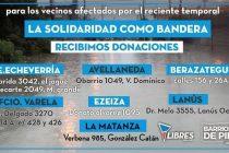 [Bs. As.] Barrios de Pie lanza campaña solidaria tras inundaciones