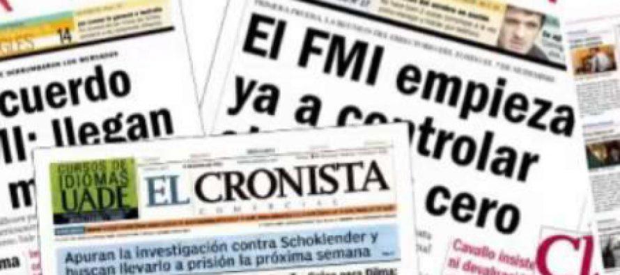 Las consecuencias de someterse al FMI. Editorial de Humberto Tumini
