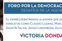 [CABA] 16/10 Foro por la Democracia y la Igualdad. Desafíos de la agenda que viene