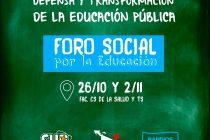 [Mar del Plata] Foro Social por la Educación