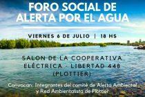 [Plottier] Se realizará hoy el 2° Foro social de alerta por el agua