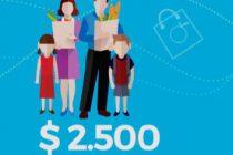 En Diciembre, una familia gasta $2500 más que un año atrás
