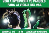 [CABA] Intervención de pañuelos para el #8A – #QueSeaLey