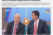 Lavagna y Urtubey en El diario de Mariana compartiendo sus propuestas. Video.