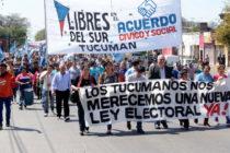 [Tucumán] Libres del Sur marchó a la Legislatura
