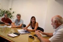 Maletti se reunió con ingenieros por plan prevención de inundaciones