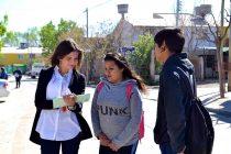 [Neuquén] María Eugenia Mañueco realiza una encuesta sobre seguridad