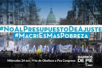 En el Congreso y en todo el país marchamos contra el presupuesto de Macri y el FMI