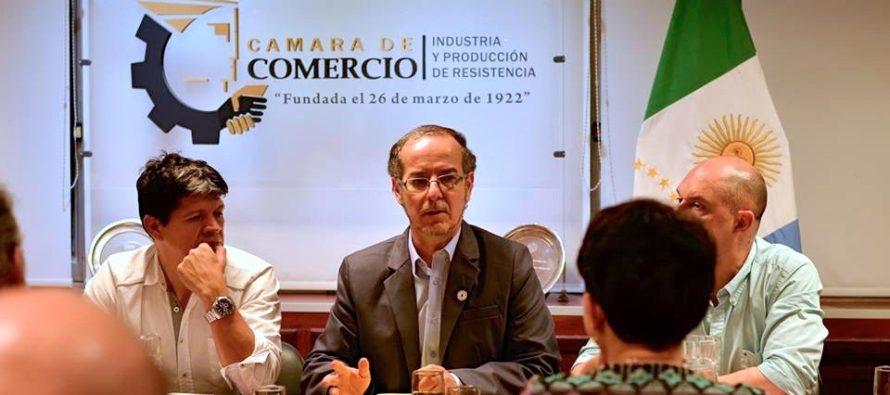 [Chaco] Carlos Martínez en Cámara de Comercio sobre creación de policías municipales