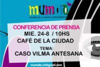 [Chaco] 24/8 Conferencia de prensa por el caso Vilma Antesana