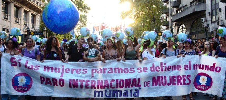 Se realizó el Paro Internacional de Mujeres.
