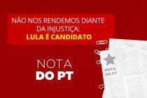 """""""No nos rendimos. Lula es candidato"""""""