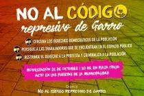 [La Plata] Movilizan contra el código represivo de Garro