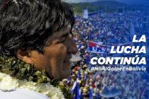 Repudiamos el golpe de Estado en Bolivia. Concentración.