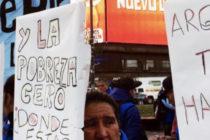 Ollas populares y marcha al Ministerio de Trabajo por el aumento del salario mínimo