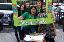1000 puntos verdes por el Aborto legal, seguro y gratuito. Fotos.