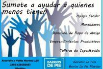 [Plottier] Barrios de Pie convoca a voluntarios para contener la situación social de Plottier