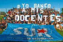 Estudiantes del Movimiento Sur movilizan en apoyo a los docentes