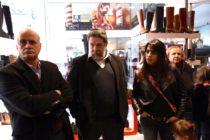 [CABA] Donda, Lozano, Taiana, Velasco y Baigorria visitaron zapatería