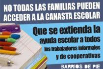[Bs. As.] Solicitarán se extienda la Ayuda Escolar