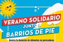 [La Plata] Barrios de Pie: Verano Solidario. Segunda jornada de donaciones.