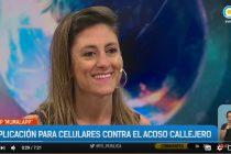 Aplicación contra el acoso callejero. Raquel Vivanco en la tv pública