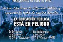 [Corrientes] Este jueves 30, marcha en todo el país por la educación pública
