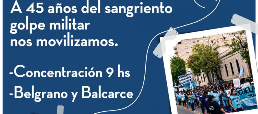 """[Salta] """"Defender los Derechos Humanos siempre"""". Actos 24 de Marzo."""
