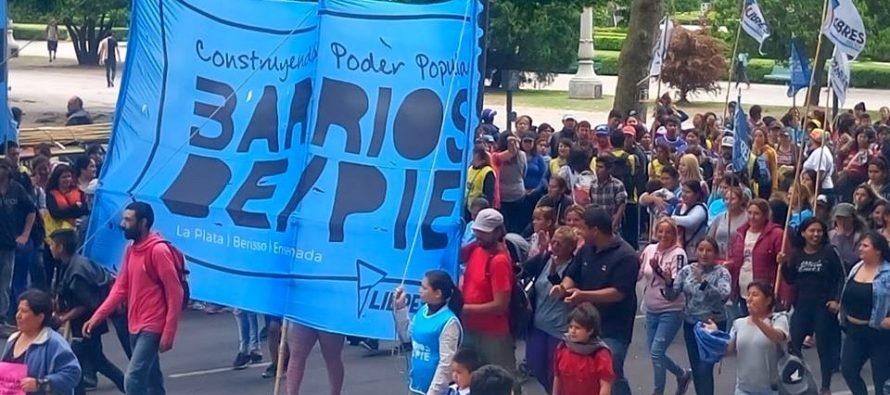 [La Plata] Barrios de Pie se moviliza al Ministerio de Desarrollo de la Comunidad bonaerense