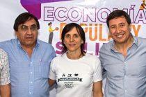 Arroyo con Saravia y Accaputo en encuentro de Economía Popular