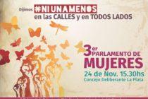 [La Plata] 24/11 Se llevará a cabo el 3er Parlamento de Mujeres en La Plata