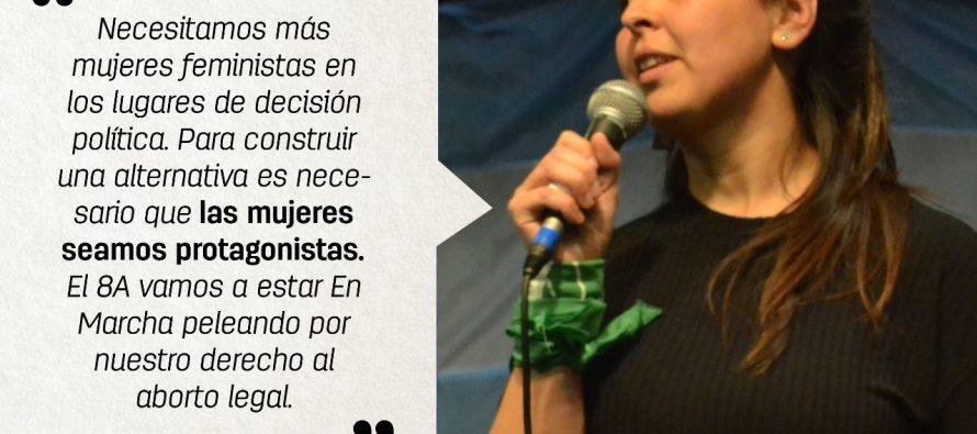 [La Plata] Intervención de Maia Luna en el acto de En Marcha