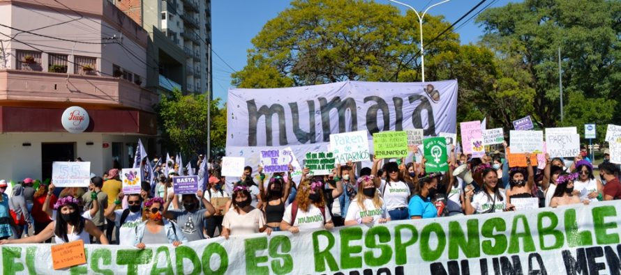 [Chaco] Intervención callejera para exigir el libre acceso y cobro urgente al Potenciar Trabajo.