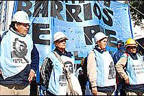 Barrios de Pie reclama hoy actualizar el haber, que es de 2600 pesos