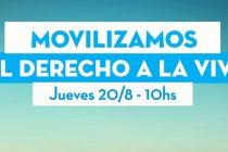 Movilizan por viviendas. Barrios de Pie acompañará al reclamo en Guernica.